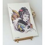 (1pcs) New Temporary Tattoo Waterproof Sexy Armhand Tattoo Body Art/Snake Vs Japanese Women/Big Fake Tatoo Stickers