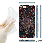MAYCARI®3D Tunnel Pattern TPU Soft Transparent Back Case for iPhone 6