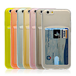 Angibabe Ultrathin TPU Protective Case with Card Slot for iPhone 6 (Assorted Color)