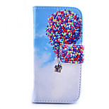 Balloon Pattern PU Material Card Full Body Case for iPhone 6