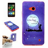 Moonlight  Pattern TPU + IMD Phone Case For Nokia N640