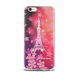 Sakura Iron Tower Pattern TPU Soft Case for iPhone 6 Plus