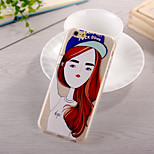 Beautiful Girl Pattern TPU Soft Case for iphone 6