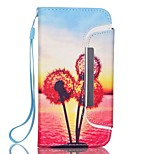 EFORCASE® Sunset Dandelion Split Lanyard Painted PU Phone Case for iphoneSE/5S/5/6/6S/6plus/6S plus