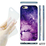 MAYCARI®Purple Nebula Pattern TPU Soft Transparent Back Case for iPhone 6