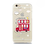 Cartoon Bus Pattern TPU Soft Case for iPhone 6 Plus