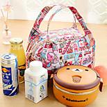 día de campo térmico bolso más fresco del almuerzo asas almacenamiento de bolsa de viaje aislado (color al azar)