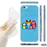 MAYCARI®Owl Family Pattern TPU Soft Transparent Back Case for iPhone 6