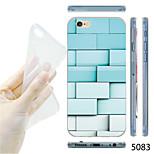MAYCARI®Blue Brick Wall Pattern TPU Soft Transparent Back Case for iPhone 6