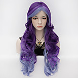 70cm Long Wavy Anime Cosplay Party Women Lady Sexy Harajuku Wig Long Party wigs   mix color