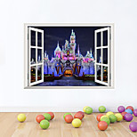 3D Wall Stickers Wall Decals Style Castle night PVC Wall Stickers