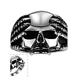Ring Stainless Steel Skull / Skeleton Fashion Silver Jewelry Halloween Daily Casual Sports 1pc