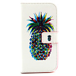 Fashion Design COCO FUN® Double Pineapple Pattern PU Leather Wallet Case Cover for  Wiko Lenny