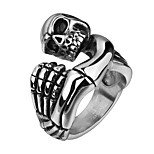 Brand Mens Jewellery Rings Skull Ring Stainless Steel Jewelry Skeleton Hand Punch Punk Rock Boy Vintage Rings