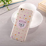 Hamburger Pattern TPU Soft Case for iPhone 6 Plus