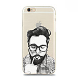 Drink Cola Uncle Pattern TPU Soft Case for iPhone 6S/6 Plus