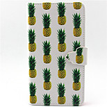 Pineapple Pattern PU Leather Phone Case For LG G3/L90