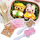 Rice Sushi Roll Mould Rabbit Bear Clothes Change Lunch Box for Kids DIY