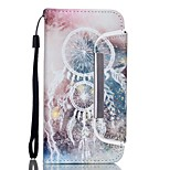 EFORCASE® White Campanula Split Lanyard Painted PU Phone Case for iphoneSE/5S/5/6/6S/6plus/6S plus