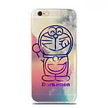 Blue Fat Cat Pattern TPU Soft Case for iPhone 6S/6 Plus