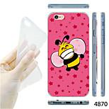 MAYCARI®Cartoon Bee Pattern TPU Soft Transparent Back Case for iPhone 6