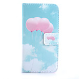 Pink Balloon Pattern PU Material Card Full Body Case for Samsung GALAXY S6 / S6 edge/ S5/S3Mini/S4Mini/S4