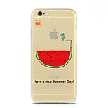 Summer Hippo Pattern TPU Soft Case for iPhone 6