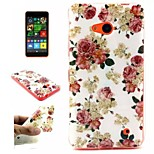 Flowers  Pattern TPU + IMD Phone Case For Nokia N640