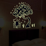 Luminous Wall Stickers Wall Decals Style Lovers Tree PVC Wall Stickers