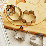 12-Piece Star Heart Flower Cookie Cutter Set Stainless Steel DIY Biscuit Pastry Mold Tool