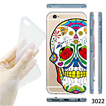 MAYCARI®National Skull Pattern TPU Soft Transparent Back Case for iPhone 6/6S