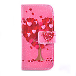 Love Tree Pattern PU Material Card Full Body Case for iPhone 5/5S