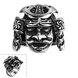 Classical No Decorative Stone Men's God of Religion Purgatory Stainless Steel Ring(Black)(1Pc)