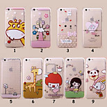 Falling Edge Drawing Cartoon Full TPU Soft Cases for iPhone 6 Plus(Assorted Colors)