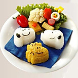 Cartoon Dog Shape Sushi Rice Roll Mould Cookie Cake Cutter (Set of 3)