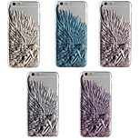Angel Wings Pattern TPU Soft Case for iPhone 6 (Assorted Color)