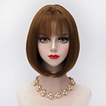30cm Short Straight Bobs Hair With Air Bang Synthetic Harajuku Lolita Lady Wig