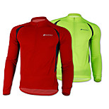 NUCKILY Bike/Cycling Jacket / Jersey / Tops Men's Long Sleeve Breathable / Quick Dry / Front Zipper / Wearable / Thermal / Warm100%