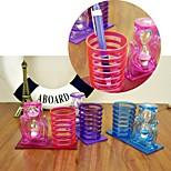 Hourgalss Ornament Plastic Pen Holder Organiser Novelty Stationery Set (Random Color)