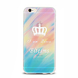 Queen Crown Pattern TPU Soft Case for iPhone 6 Plus