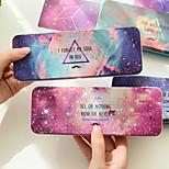 Constellation Nebula Galaxy Stars Pencil Case Pen Box Large Stationery Storage (Random Color)