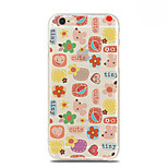 Lovely Flower Pattern TPU Soft Case for iPhone 6