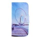 Ferris Wheel Pattern PU Material Card Full Body Case for iPhone 6
