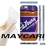 MAYCARI®Milk Chocolate Jam Pattern TPU Soft Back Case for iPhone 6