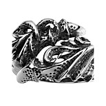 Punk Design Fire Dragon Claw Ring Unisex Flame Dragon 316L Stainless Steel Biker Rings Jewelry