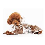 White Waterproof Plastic Rain Coat For Dogs