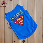 FUN OF PETS® Cute Superman Style Blue Vest for Pets Dogs (Assorted Sizes)