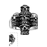 Ring Skull Halloween Daily Casual Sports Jewelry Stainless Steel Men Ring 1pc,8 9 10 Silver