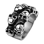 Brand Mens Jewellery Skull Ring 316L Stainless Steel Jewelry Men Rings Round Crowd Skeleton Punk Vintage Ring