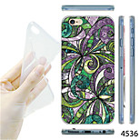 MAYCARI®Painting Flower Pattern TPU Soft Transparent Back Case for iPhone 6